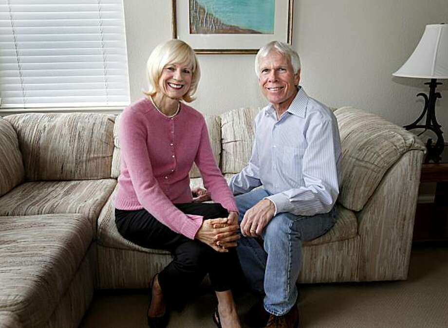 High school sweethearts Nevin Valentine (left) and Darrell Holdaway went their separate ways and then reconnected 30 years later.  They make their home in Novato, CA. Photo: Brant Ward, The Chronicle