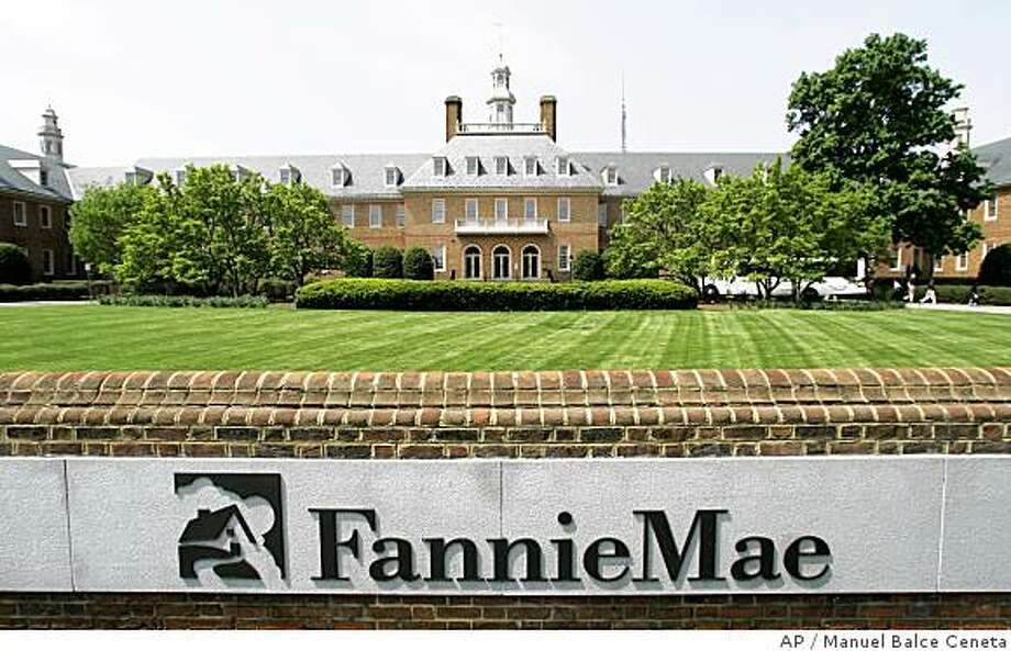 **FILE** This May 2, 2007 file photo shows the Fannie Mae building in Washington. For years, mortgage giants Fannie Mae and Freddie Mac tenaciously worked to nurture, and then protect, their financial empires by invoking the political sacred cow of homeownership and fielding an army of lobbyists, power brokers and political contributors. Now, new attention is being focused on the bruised mortgage companies as the Bush administration presses its rescue plan to Congress. (AP Photo/Manuel Balce Ceneta, File) Photo: Manuel Balce Ceneta, AP