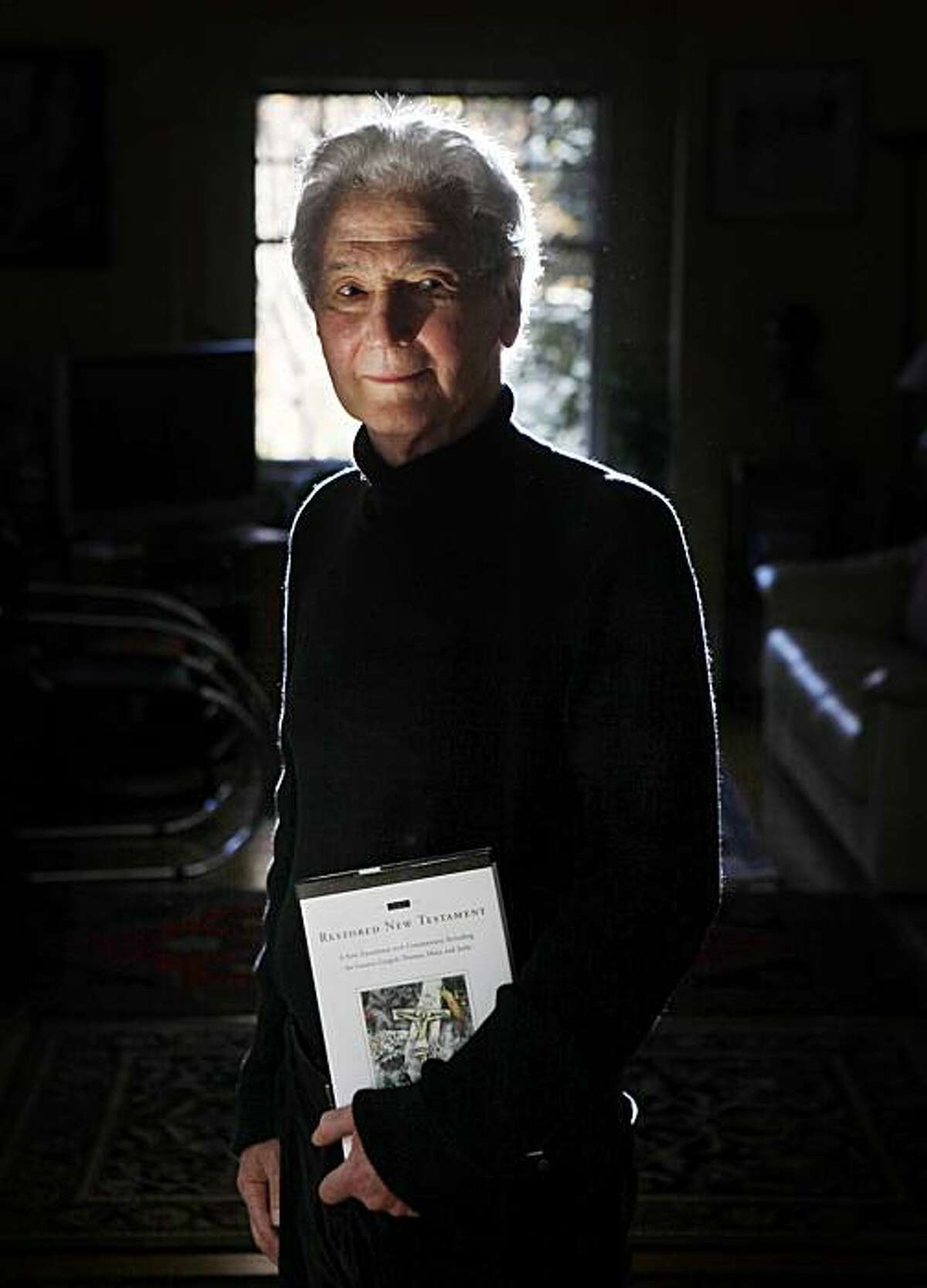 Willis Barnstone, author of a revision of the New Testament which restores Jesus' Jewish heritage more directly, stands for a portrait in his home on Monday Nov. 30, 2009 in Oakland, Calif.