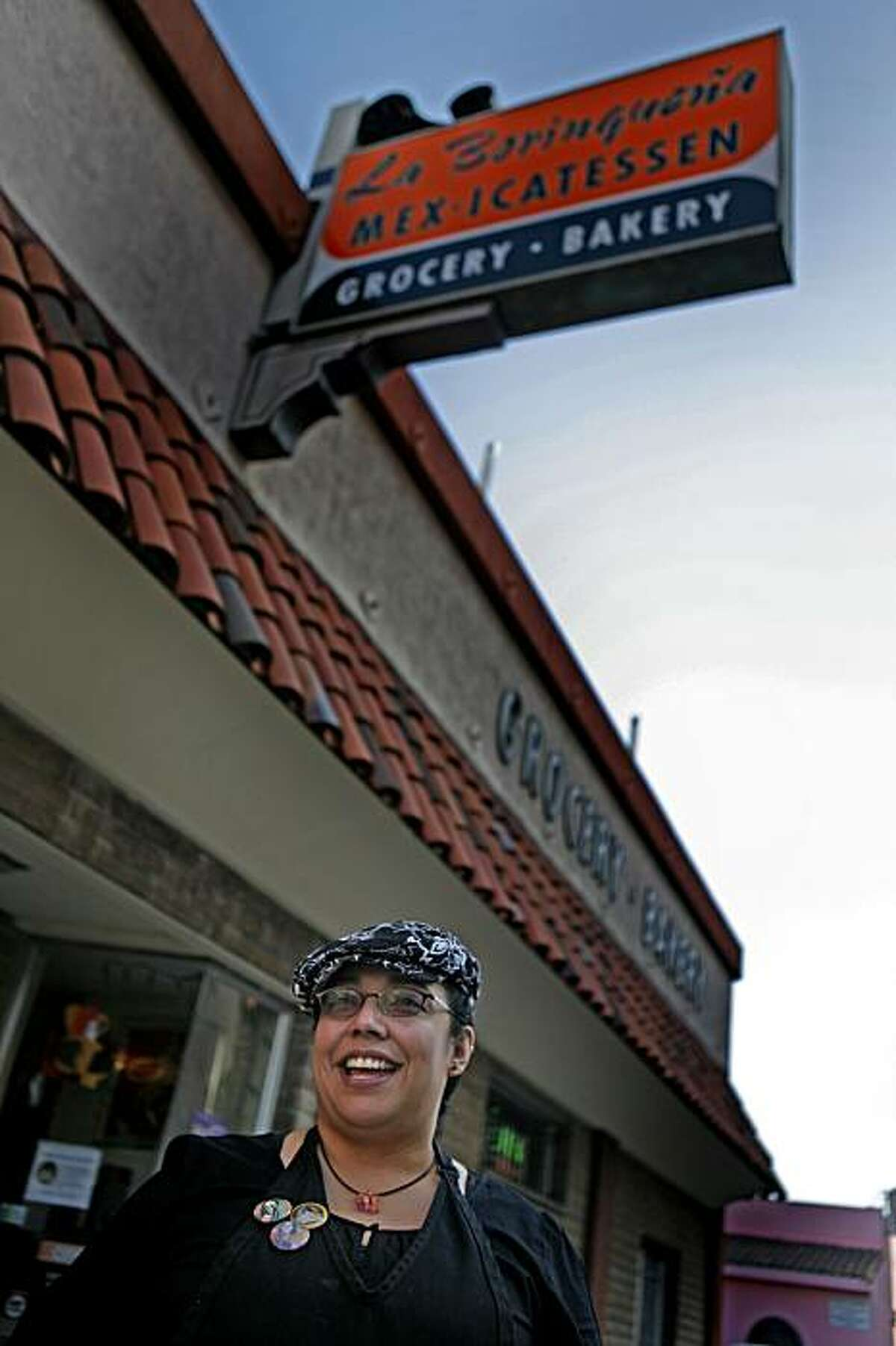 Tina 'Tamale' Ramos, spokesperson and manager for special orders at the La Borinquena Mex-icatessen in Oakland Calif. on Saturday October 31, 2009.