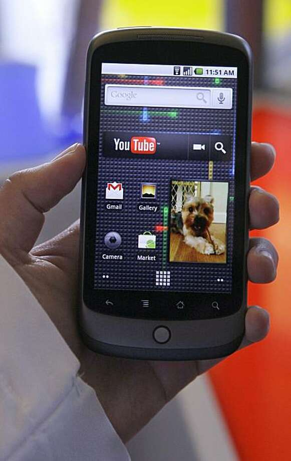 The Nexus One phone from Google Inc. is shown at a demo in Mountain View, Calif., Tuesday, Jan. 5, 2010. (AP Photo/Jeff Chiu) Photo: Jeff Chiu, AP