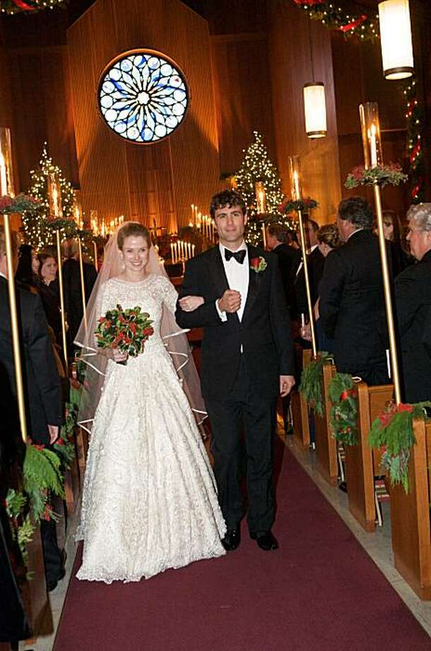 Google/Color_Marissa Mayer and Zachary Bogue at their wedding in the chapel on Treasure Island 2009./ By RobertEvans.com/Karenwisephoto.com Photo: By RobertEvans.com/Karenwisephot, Special To The Chronicle