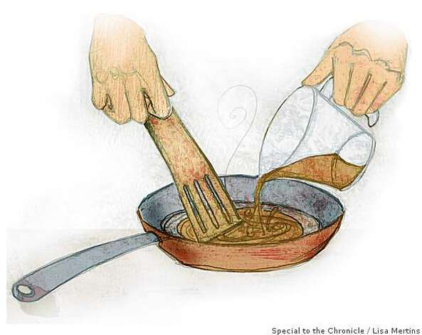 "Pan sauce illustration for Amanda Gold's ""10 TECHNIQUES EVERY COOK SHOULD KNOW""Lisa Mertins / Special to the Chronicle Photo: Lisa Mertins, Special To The Chronicle"
