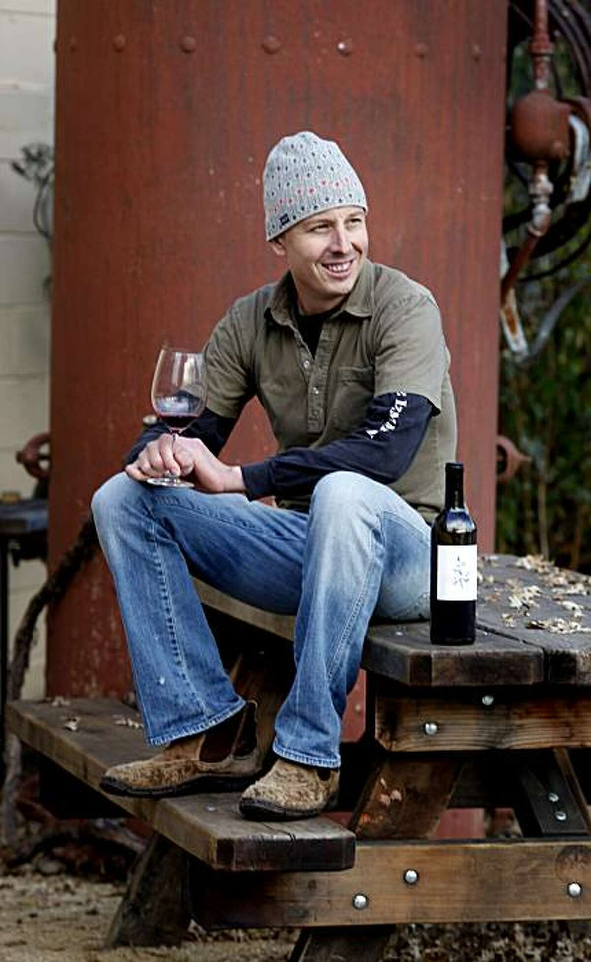 Winemaker Duncan Arnot Meyers. Duncan Arnot Meyers and Nathan Lee Roberts of Arnot-Roberts in Forestville have been friends since childhood.