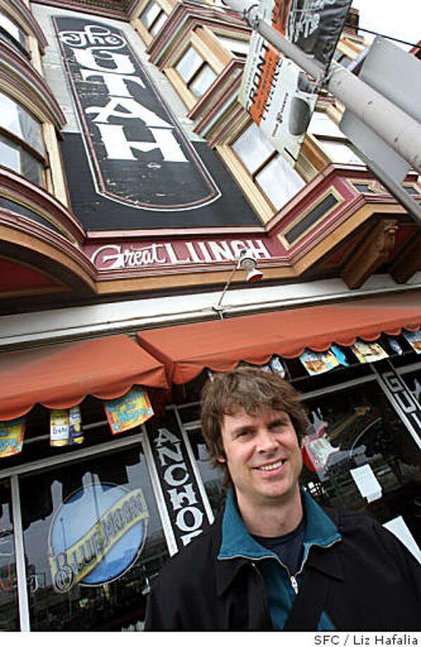 Tim Westergren, founder of Pandora Radio (www.pandora.com), in  front of the Hotel Utah in San Francisco, Calif., on Wednesday, May 28, 2008.The Chronicle Photo: Liz Hafalia, SFC