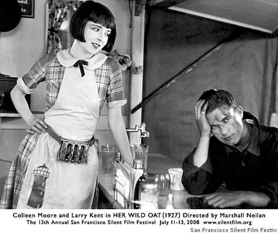 """Colleen Moore and Larry Kent in """"Her Wild Oat"""" (1927)Part of the San Francisco Silent Film Festival 2008 Photo: San Francisco Silent Film Festiv"""
