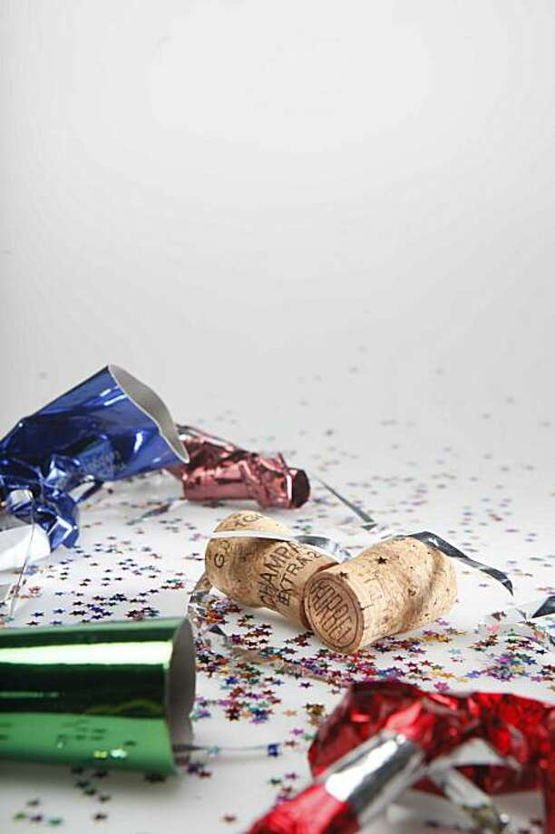 Party favors and confetti were photographed in the studio on Monday, Dec. 21, 2009 in San Francisco, Calf. Photo: Mike Kepka, The Chronicle