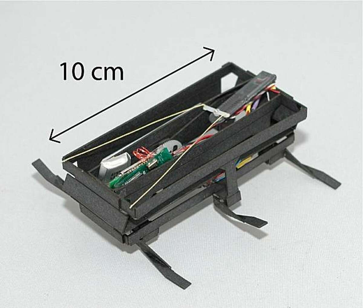 Cheap, lightweight, six-legged robotic cockroaches like the one in the photo may one day be used to save lives.