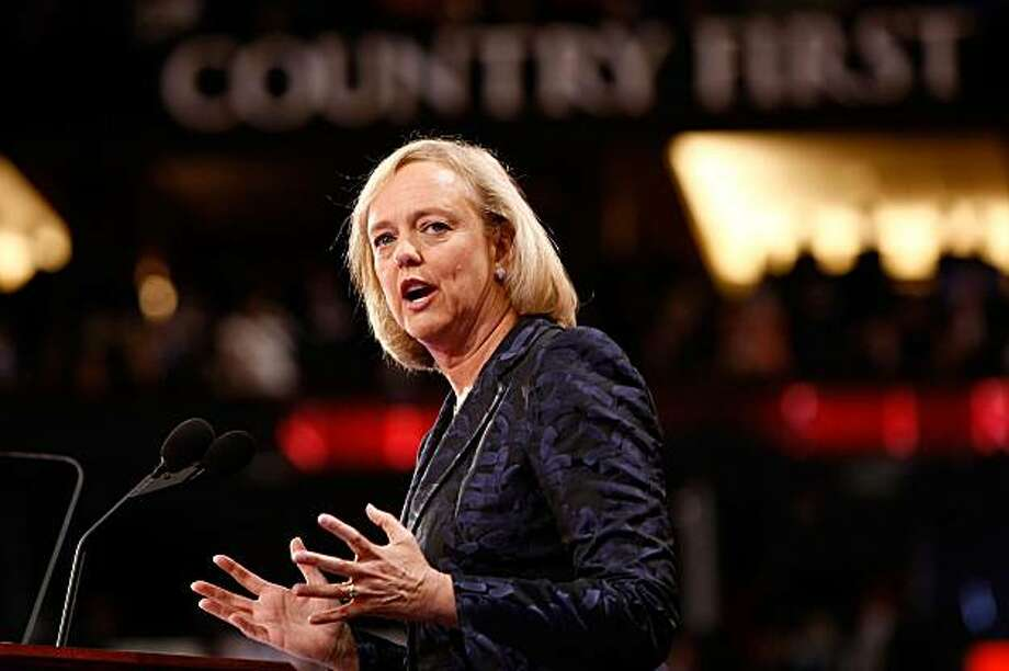 Meg Whitman, former President and CEO of EBay, speaks during the 2008 Republican National Convention. Photo: Chip Somodevilla, Getty Images