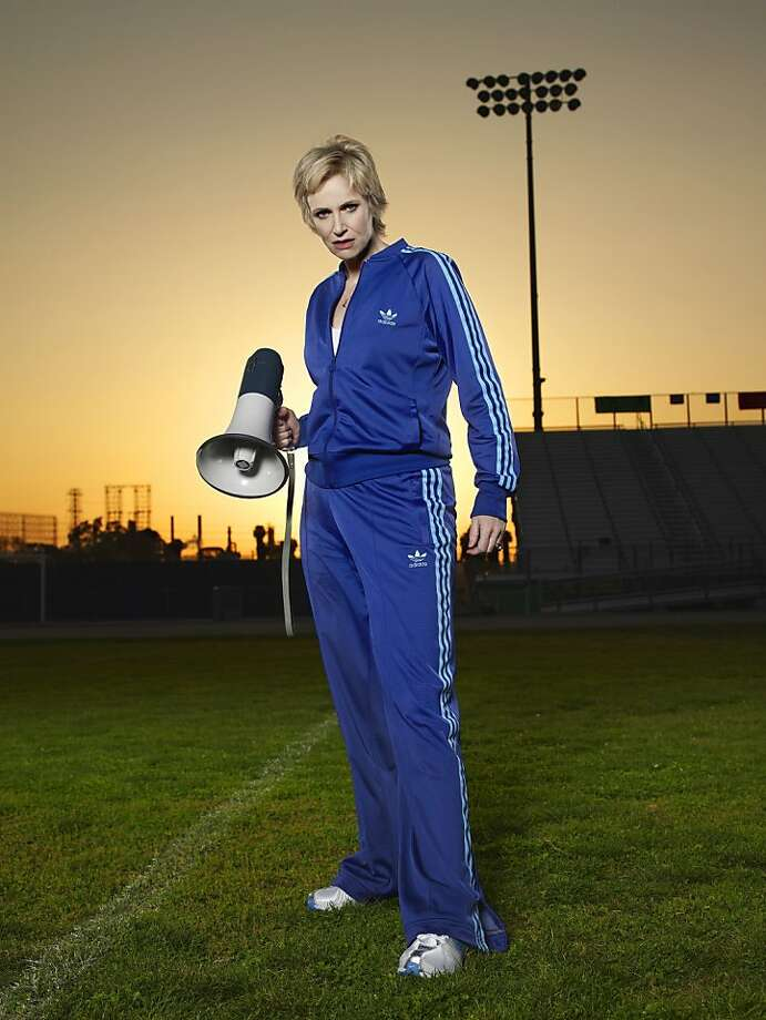 Jane Lynch as Sue Sylvester on GLEE Photo: Patrick Ecclesine, FOX