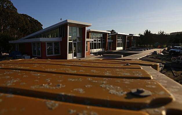 The finishing touches are being put on the new temporary Crissy Field Center, Wednesday Dec. 23, 2009, in San Francisco,Calif. Photo: Lacy Atkins, The Chronicle