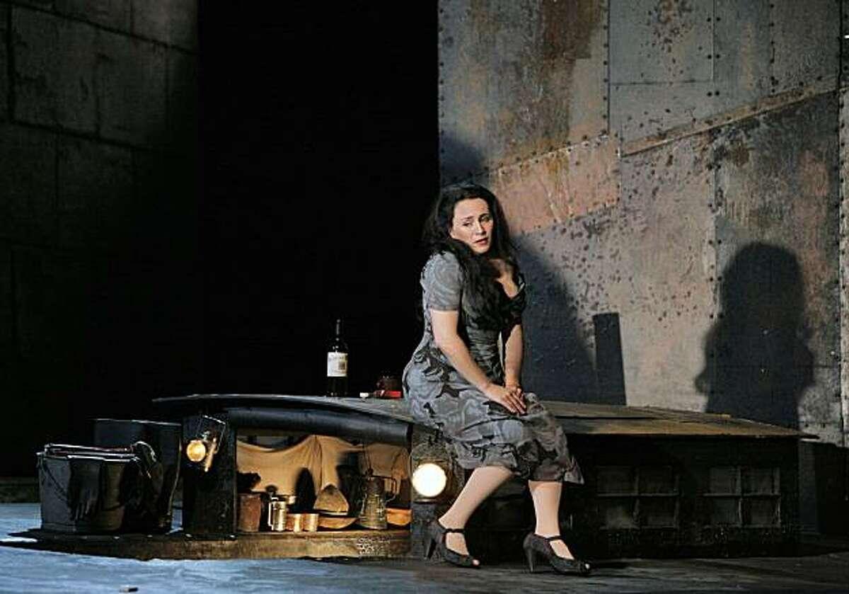 Patricia Racette (Giorgetta) in Puccini's Il Tabarro at San Francisco Opera