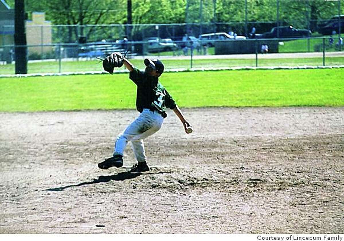 Tim Lincecum pitching in a Issaquah (Wash.) Little League game circa 1995.