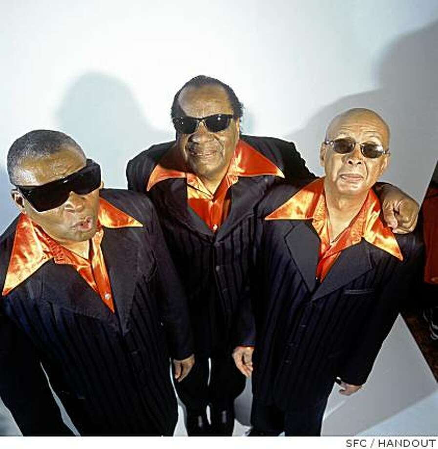 Three members of the Blind Boys of Alabama: From left: George Scott, Clarence Fountain and Jimmy Carter. Photo: HANDOUT, SFC