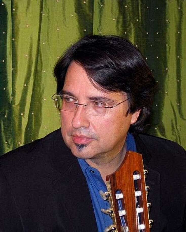 """Steve Masakowski, inventor  of the """"key-tar,"""" is now in a band called Astral Project. Photo: Courtesy Steve Masakowski"""