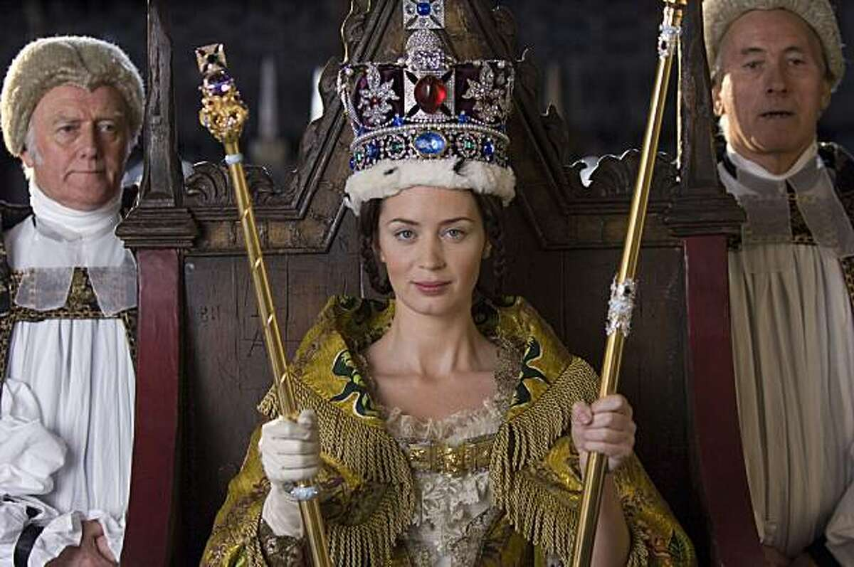 """In this film publicity image released by Apparition films, Emily Blunt portrays Queen Victoria in a scene from """"The Young Victoria."""" (AP Photo/Apparition Films, Liam Daniel)"""