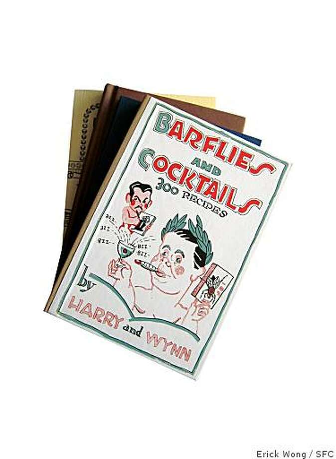 A collection of vintage bartending manuals, republished by Mud Puddle Books. Photo: Erick Wong / SFC