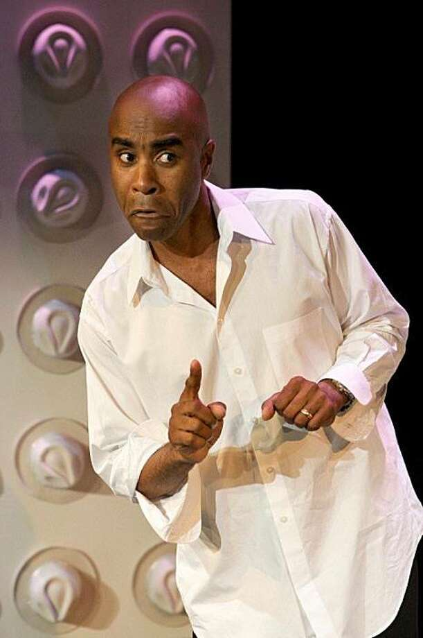 """Don Reed in his autobiographical solo show """"East 14th: True Tales of a Reluctant Player"""" Photo: Keith Leman"""