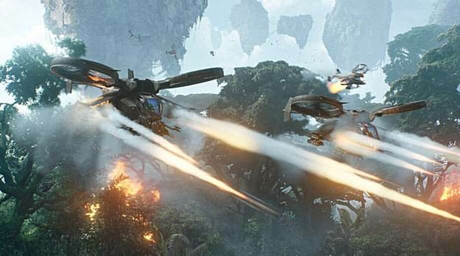 The human forces on Pandora unleash tremendous firepower in an epic battle against the NaÕvi, the indigenous population of Pandora. Photo: ILM