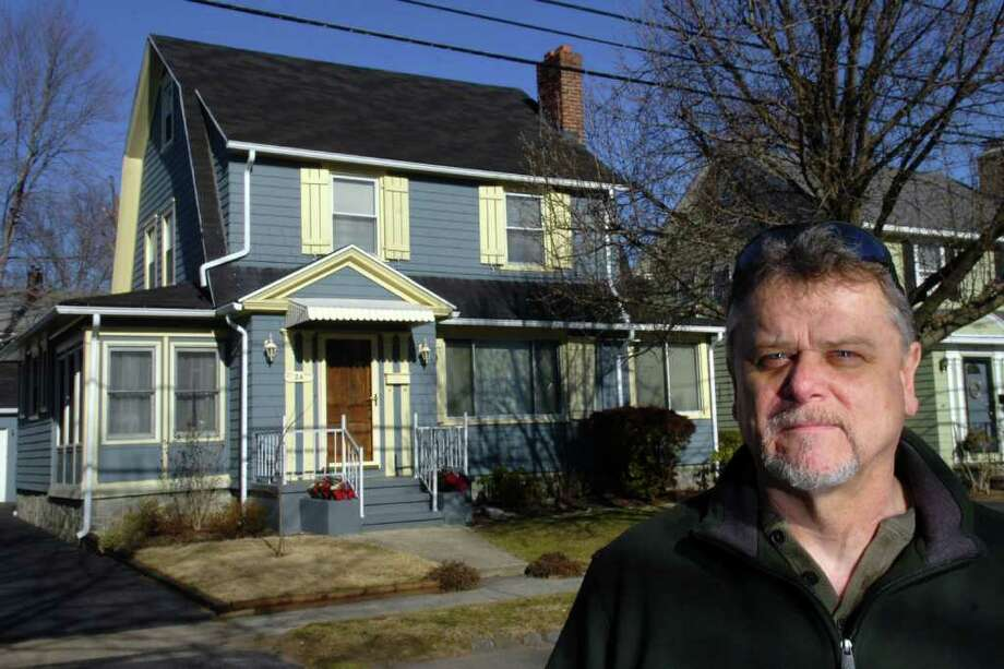 Frank DuBois stands in front of his home on Glenwood Ave., in Stratford, Conn. Feb. 9th, 2012. Photo: Ned Gerard / Connecticut Post