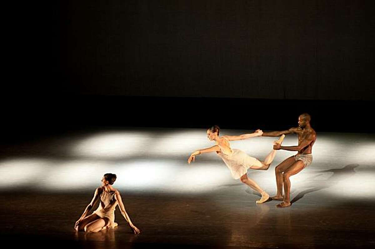 Attached is a photo of Laurel Keen, Meredith Webster, Keelan Whitmore performing in Dust & Light.