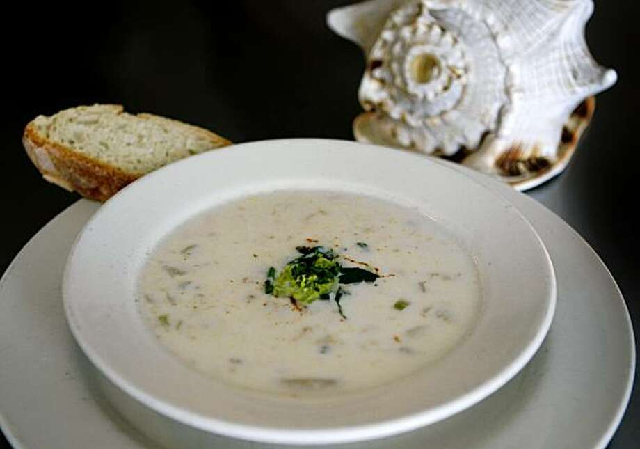 A bowl of Boston clam chowder is seen at the Anchor Oyster Bar restaurant in San Francisco, Calif., on Tuesday, Nov. 10, 2009. Photo: Paul Chinn, The Chronicle