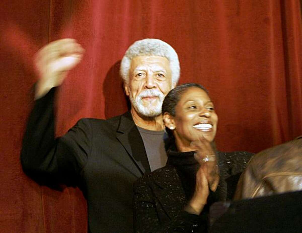 Ron Dellums and his wife Cynthia at the victory party on June 6, 2006 after his successful run for the Oakland mayor's office.