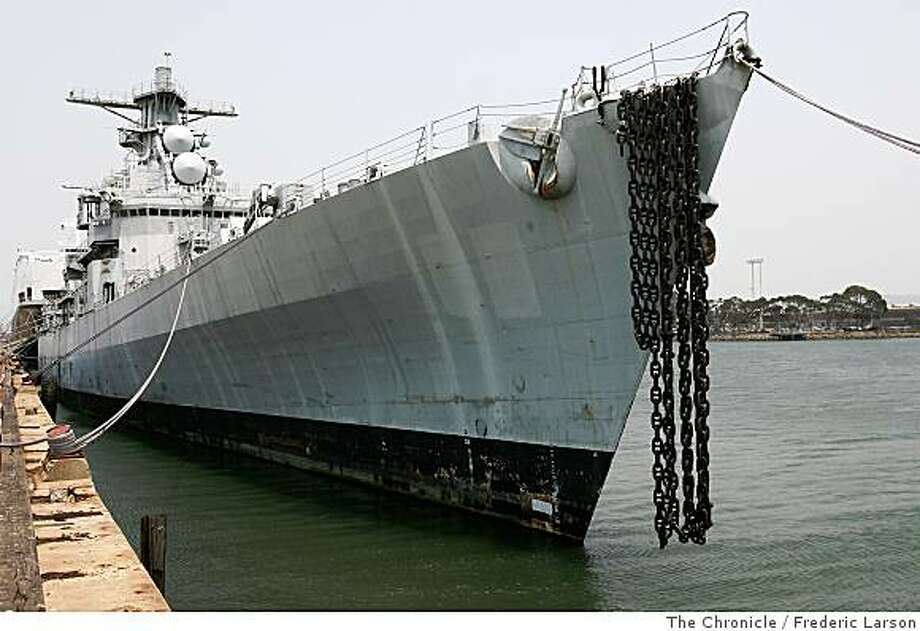 The USS Horne that was once was powerful guided missile cruiser builded at Hunters Point Naval Shipyard is presently mothballed and docked at Richmond Calif., on June 24, 2008, waiting for the final cruise out to sea for target practice some time this week.6/24/08Photo by Frederic Larson / The Chronicle Photo: Frederic Larson, The Chronicle