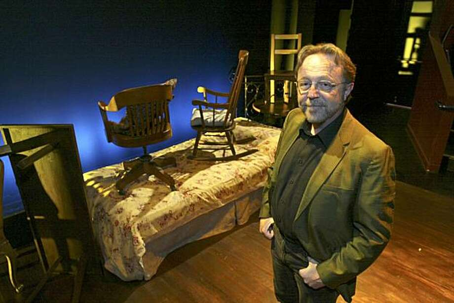"Tom Ross is the new artistic director of Aurora Theatre in Berkeley on the set (opening scene) of ""Betrayal,"" a play he directed and is now running at the Aurora.  Photo by Michael Maloney / San Francisco Chronicle Photo: Michael Maloney, The Chronicle"