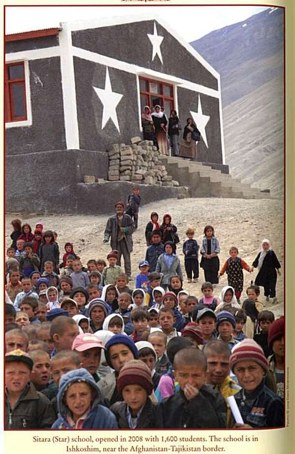 "Sitara school, opened in 2008 with 1,600 students. the school is in Ishkoshim, near the Afghanistan-Tajikstan border. a photo from the book  ""stones into schools."" Photo: Greg Mortenson, Viking Books"
