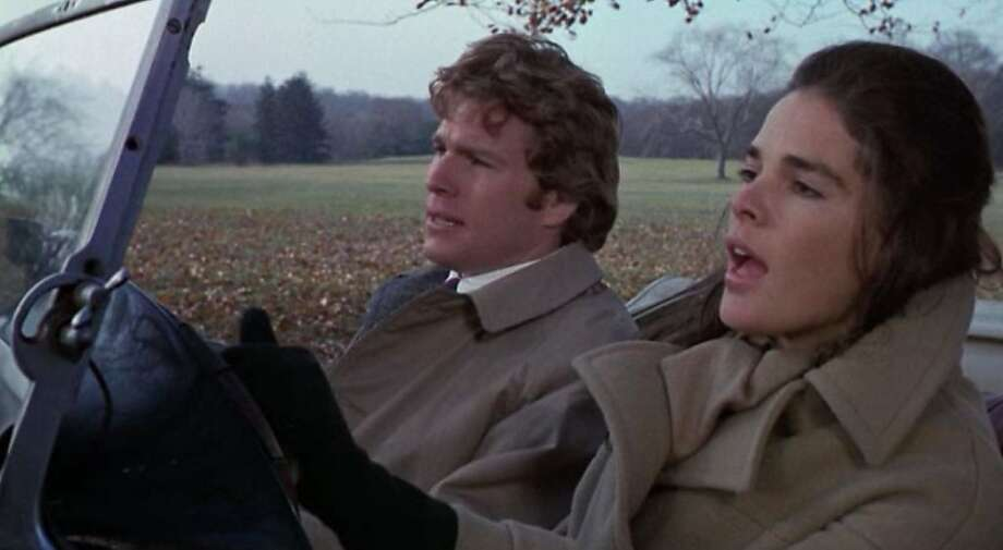 "Ali MacGraw will be at the Castro Theatre screening of ""Love Story"" on Valentine's Day, Feb. 14, 2012. She is pictured here with Ryan O'Neal in the movie. Photo: Paramount Pictures 1970"