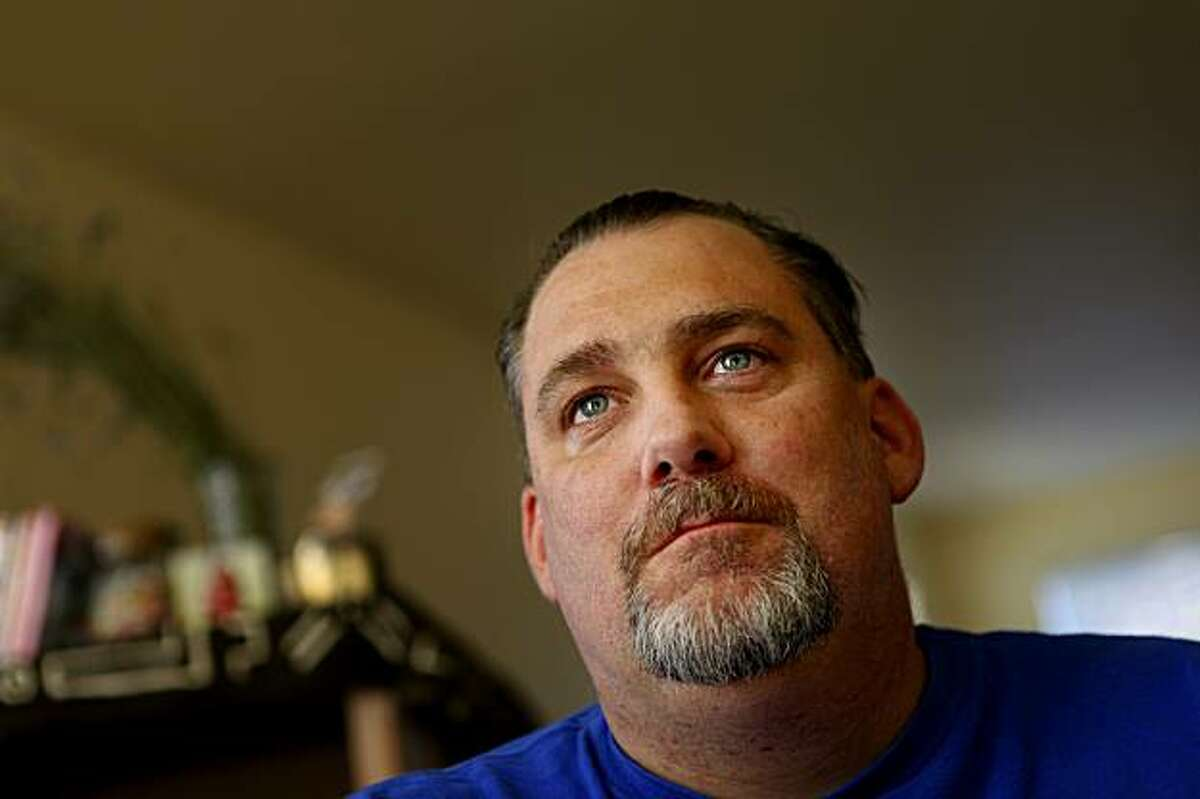 Joshua Poole gets a little emotional as he talks about the lose of his mother, Wednesday Nov. 18, 2009, in Fairfax, Calif.