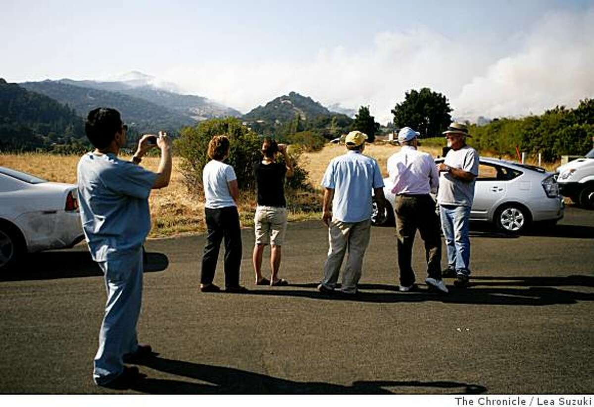 Residents watch the fire from Durbin Lane in Green Valley, Calif. on Sunday June 22, 2008. Photo By Lea Suzuki/ The Chronicle
