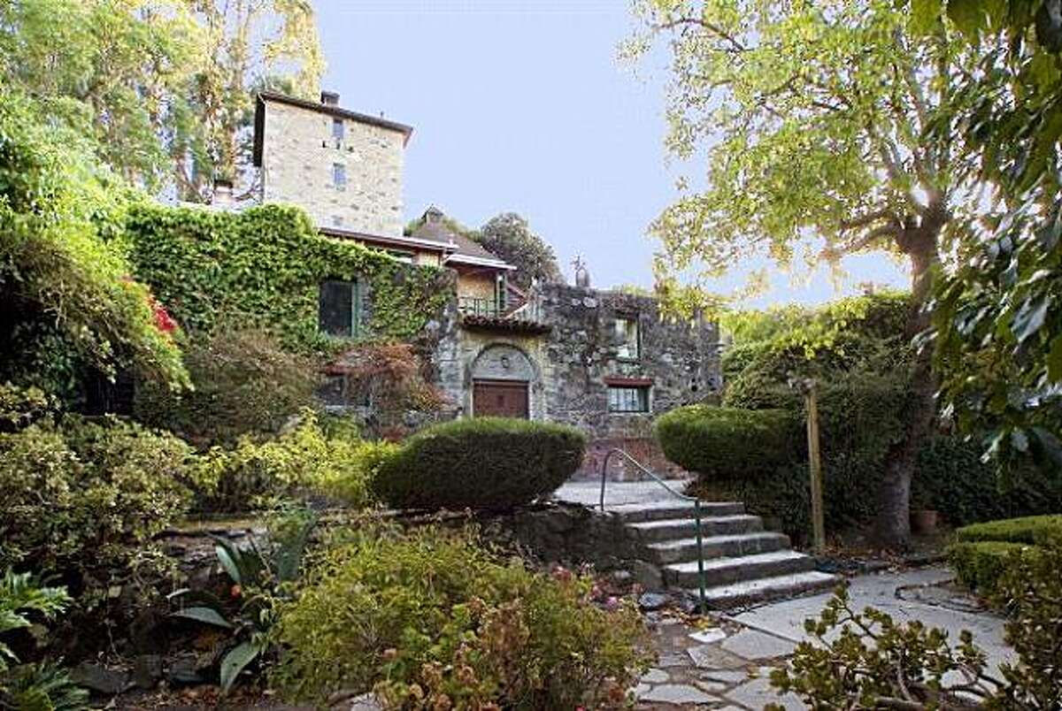 Albion Castle, originally built in 1870, is located at 881 Innes Avenue in San Francisco and includes four bedrooms, two bathrooms and numerous patios. It's currently priced at $2.95 million and sale would include the right to the name