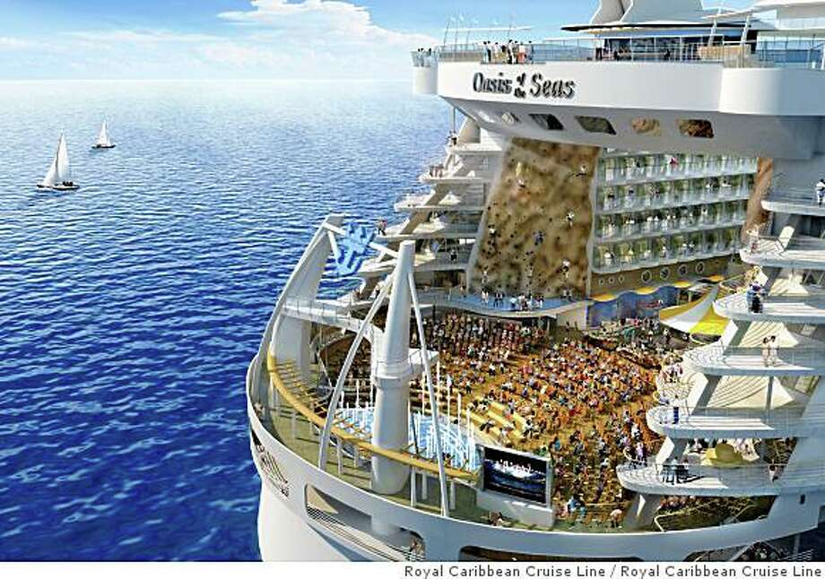 A Digital Rendering Of The Stern Oasis Seas Royal Caribbean Cruise