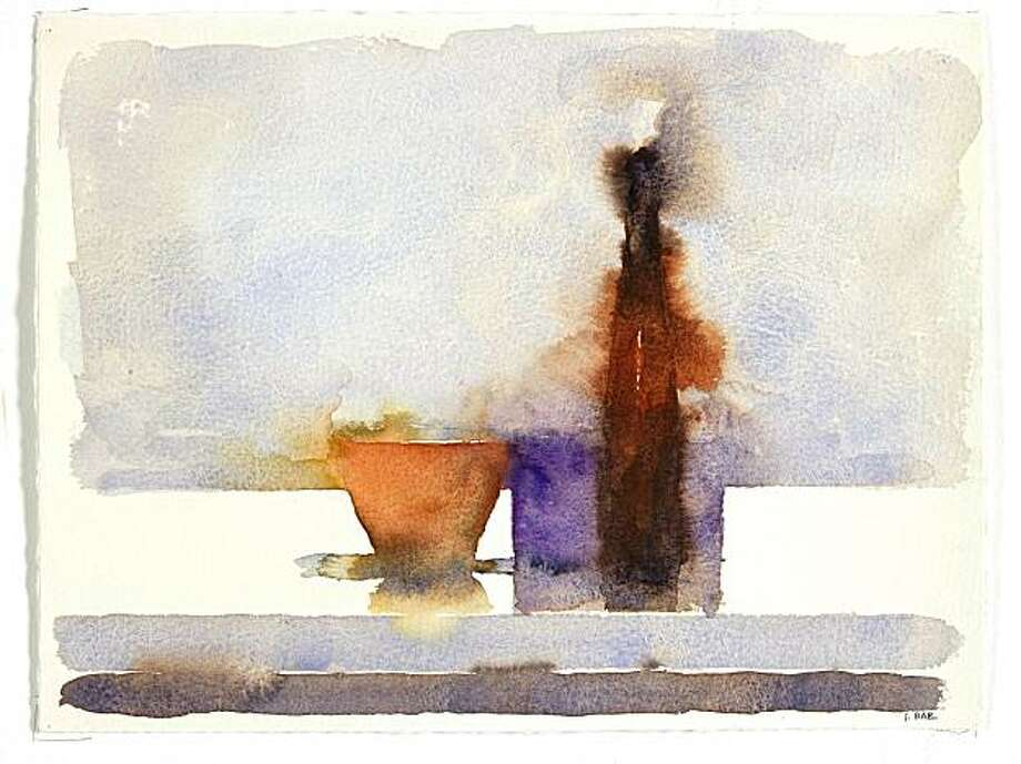 """Still Life 118"" (2009) watercolor on paper by Jude Rae  11"" x 15"" Watercolour090831 0007 Photo: Derek Ross, George Lawson Gallery, S.F."