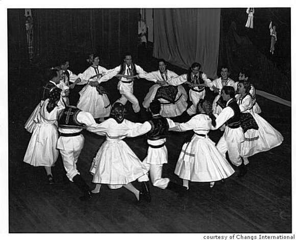 A group from Changs International Folk Dancers perform a circle dance in the 1950s. Photo: Courtesy Of Changs International