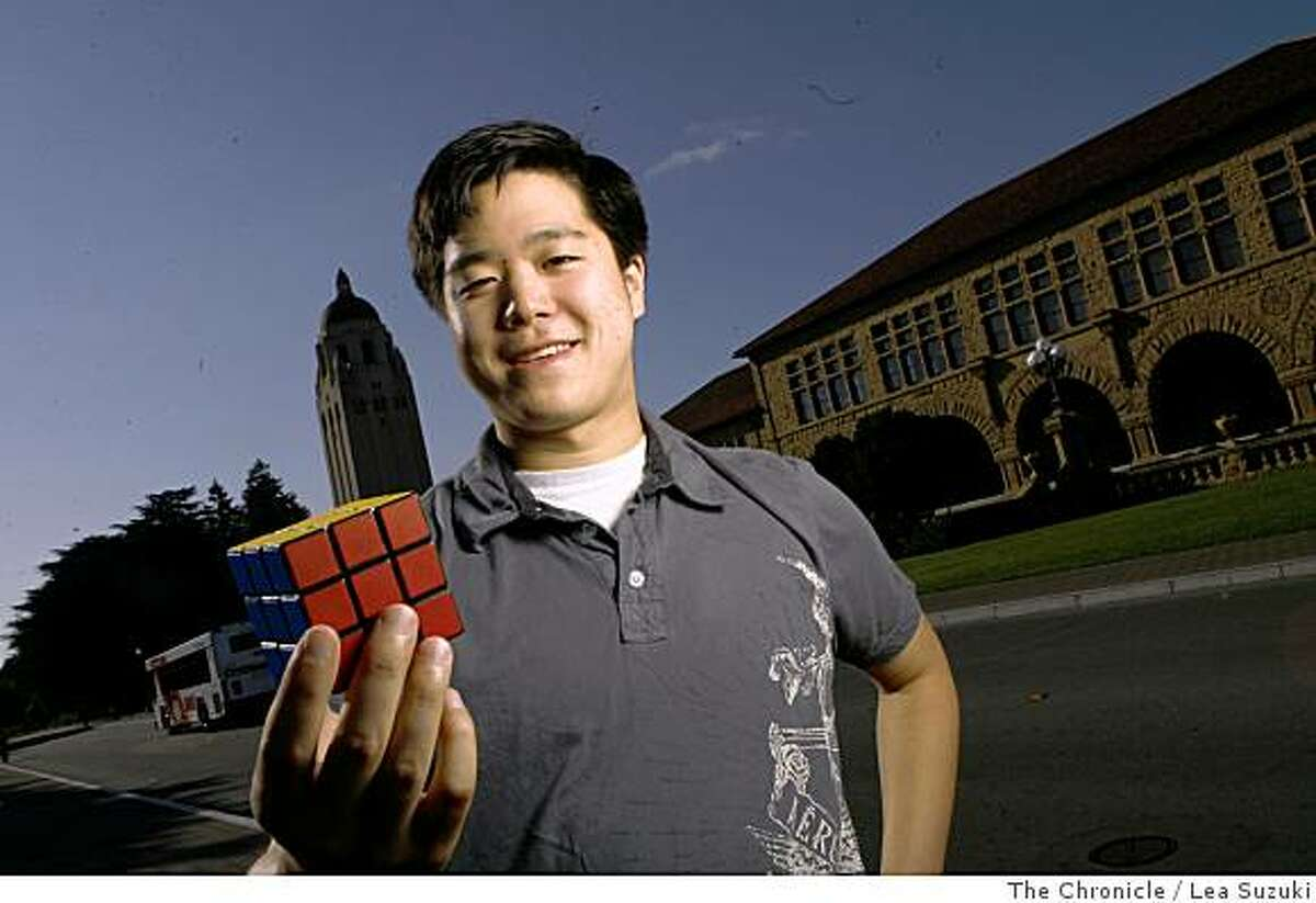Leyan Lo in Stanford, Calif. on Monday, June 2 2008, is a master of the Rubik's cube.Photo By Lea Suzuki/ The Chronicle