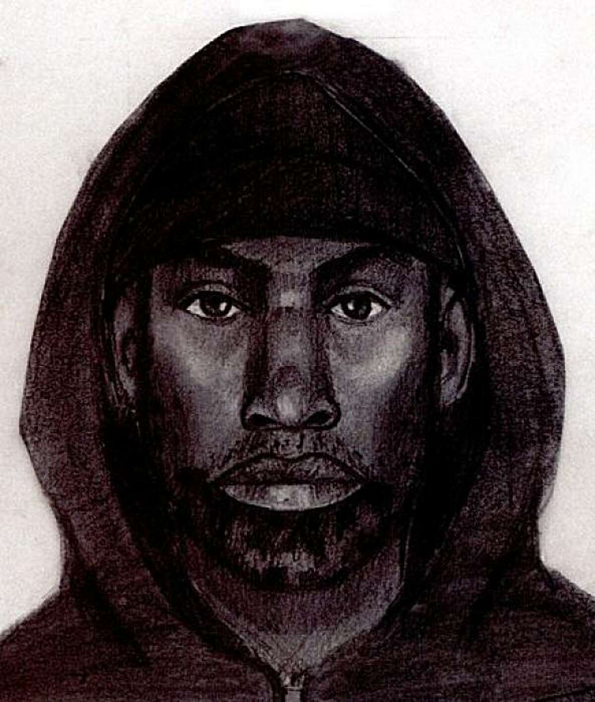 Undated police sketch of the suspect sought in the stabbing of 11-year-old Hatin Mansori on the Muni 49 Line outbound on 19th Street and Mission Street on Sept. 1, 2009.