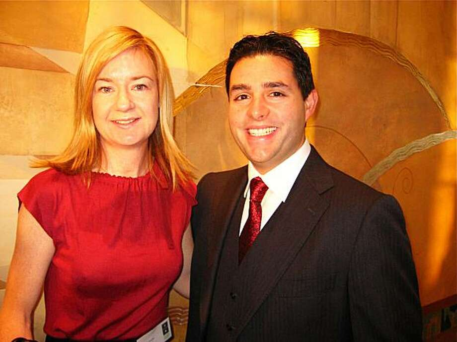 Tipping Point Board members Katie Schwab and 49ers President Jed York at the TP Awards Breakfast. Photo: Catherine Bigelow, Special To The Chronicle