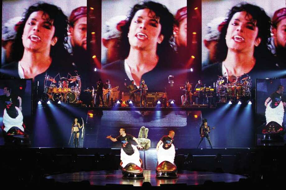 Taking the stageCurrently on tour is Michael Jackson: The Immortal World Tour. It's the official theatrical production by Cirque du Soleil which uses the music and vision of Michael Jackson along with Cirque du Soleil's signature acrobatic performance style. The tour is expected to rake in around $30-40 million in the coming years. Photo: OSA Images\Cirque Du Soleil