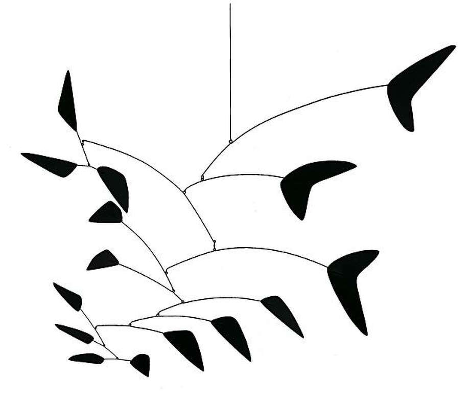"Three Black Fishtails 1960, sheet metal, wire, and paint, 60"" x 45"" by Alexander Calder Calder Foundation, Archive no.: A01653 Photo: 2007 Calder Foundation, New YorK, Doris & Donald Fisher Collection"