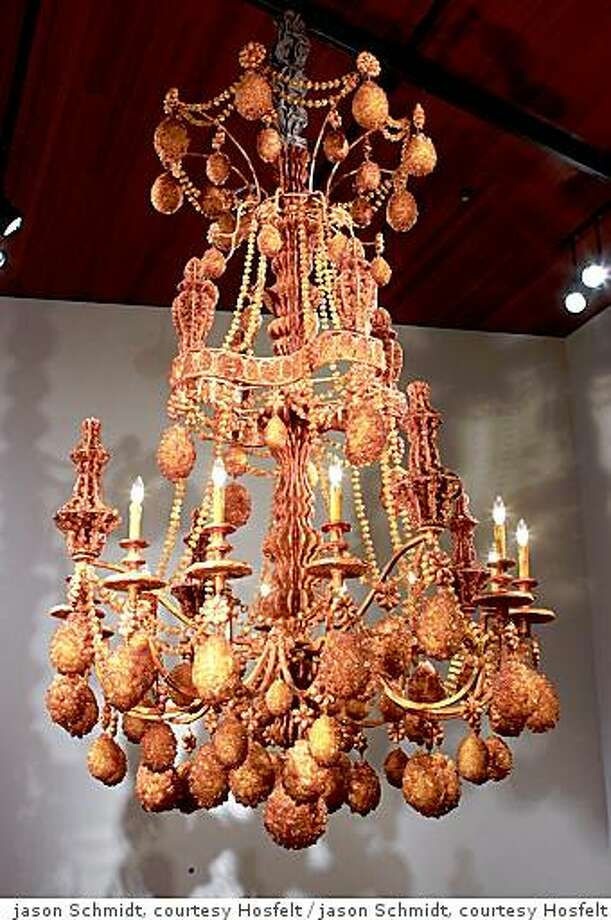 """Diadem"" rock-sugar chandelier by Austrailian artist Timothy Horn, on display at the De Young Museum through October 12, 2008. Photo: Jason Schmidt, Courtesy Hosfelt"