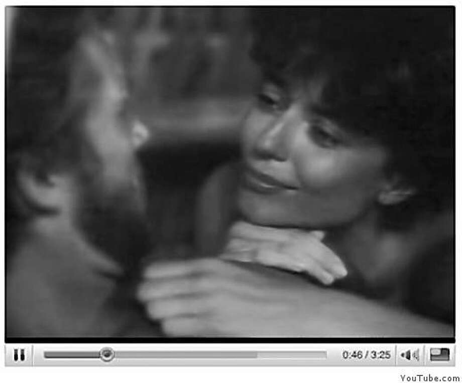"Jeff Bridges and Rachel Ward in Phil Collin's musice video ""Against All Odds.""  From the Motion Picture soundtrack.  Screen grab taken from YouTube. Peter Hartlaub's Critic Pick for 2008 Photo: YouTube.com"