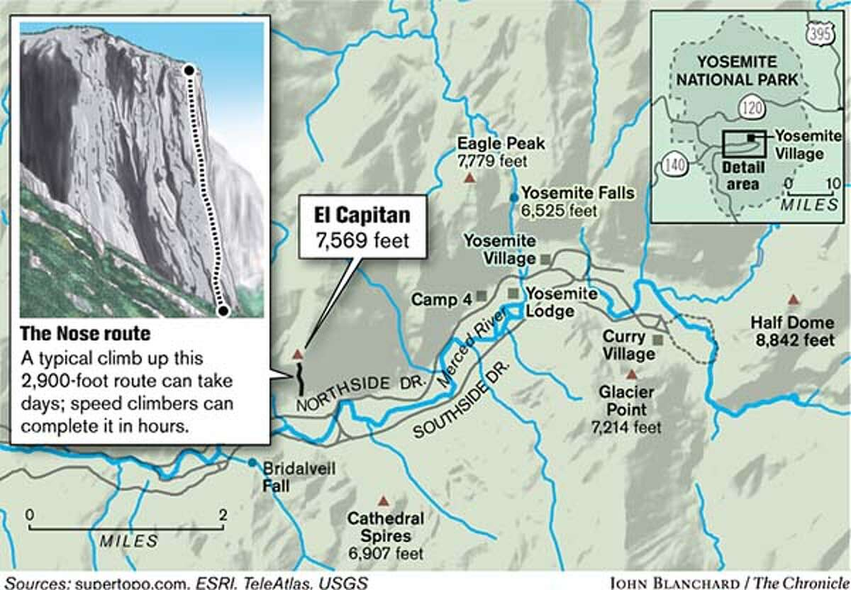 El Capitan. Chronicle graphic by John Blanchard
