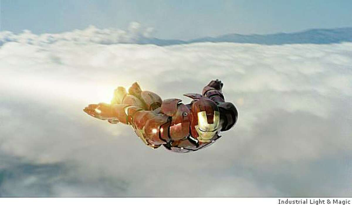 Iron Man aloft in his air-worthy Mark III armor in �Iron Man.� Paramount Pictures and Marvel Entertainment Present A Marvel Studios Production in Association with Fairview Entertainment A Jon Favreau Film �Iron Man� starring Robert Downey Jr.Photo Credit: Industrial Light & Magic