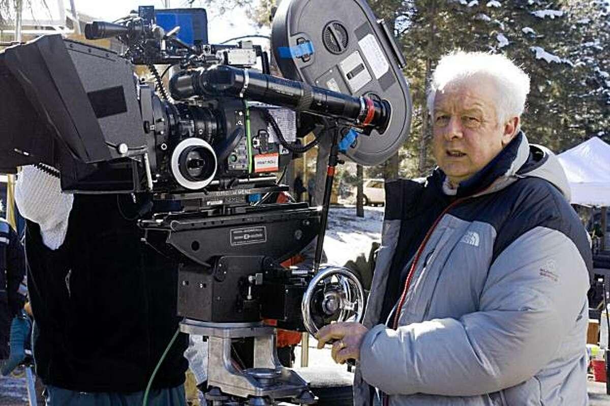 Director Jim Sheridan on the set of