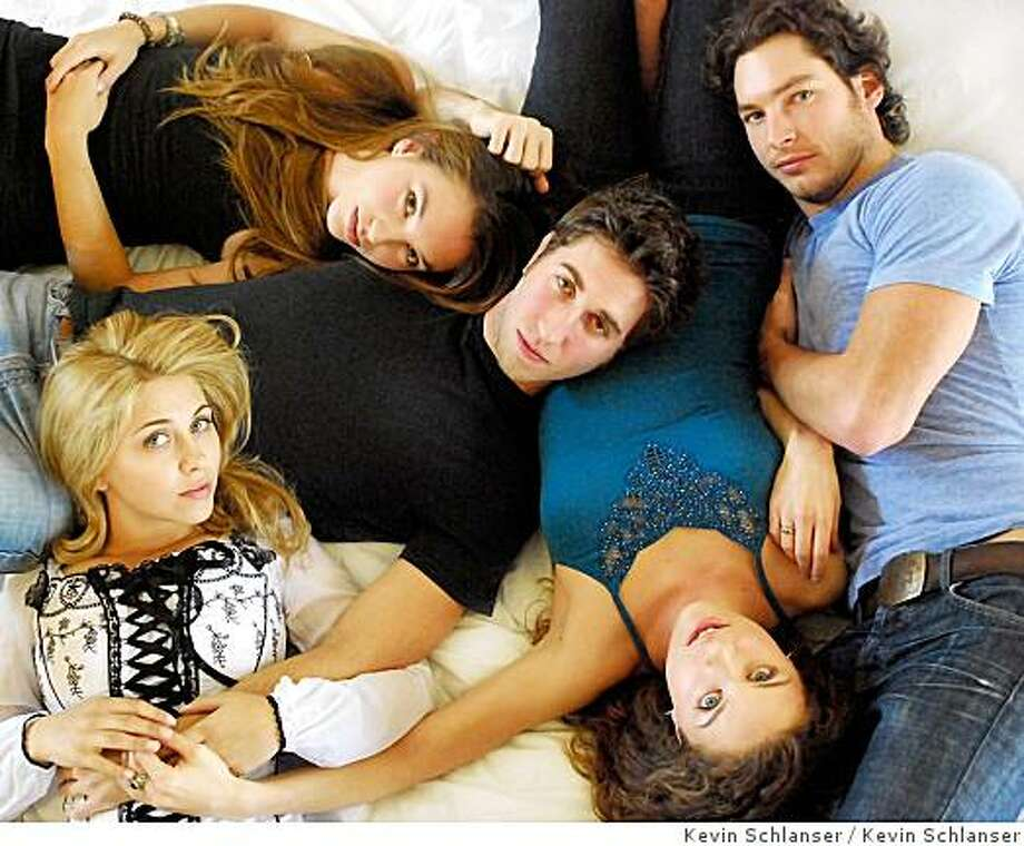 "Clockwise from upper left: Crystal Young, Yousef Abu-Taleb, Jackson Davis, Melanie Merkosky, Alexandra Dreyfus from ""LonelyGirl15."" Photo credit: Kevin Schlanser Photo: Kevin Schlanser"