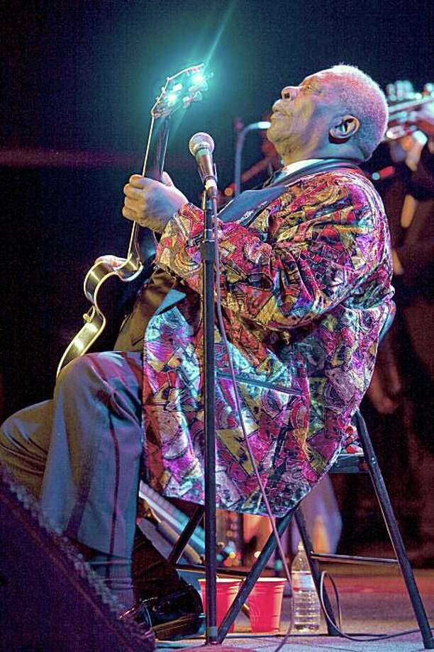 "Dan Dion on BB King: ""He's one of the last great bluesmen and he's still amazing. I've seen him five or six times and it never feels like he's phoning it in. Even though it's the blues it's joyful to see him."" BB King. Fillmore Auditorium, San Francisco Oct 15, 2007 ©Dan Dion Photo: Dan Dion"