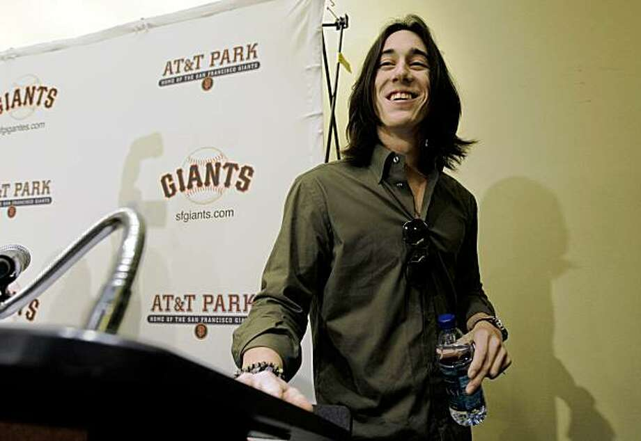 Tim Lincecum of the San Francisco Giants was named the National League Cy young Award winner today for the second straight year. Lincecum attended a news conference at AT&T Ballpark  in San Francisco, Calif. on Thursday November 19, 2009. Photo: Michael Macor, The Chronicle